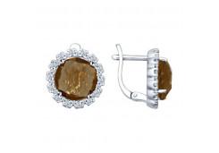 Серебряные cерьги с алпанитом