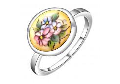 Серебряное кольцо с финифтью