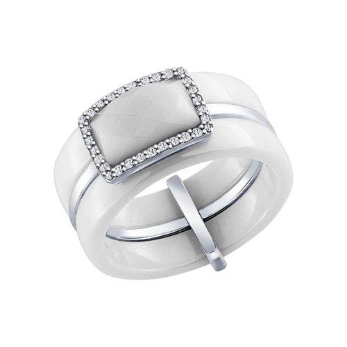 Кольцо из серебра 925 пробы с керамикой