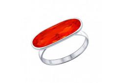 Кольца из серебра, вставка сваровски кристалл 41963