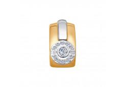 Подвеска из красного золота 585 пробы с бриллиантом