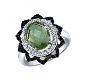 Серебряное кольцо с кварцем