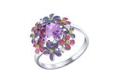 Серебряные кольца с аметистом 58383