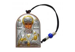 Икона Синтетический камень Малая св.Николай Чудотворец, Спаситель