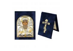 Икона Поделочный камень Малая св.Николай Чудотворец