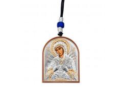 Икона Синтетический камень Малая БМ Семистрельная, Иисус Христос