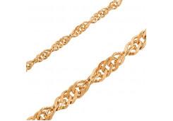 """Женские браслеты из золота, плетение """"сингапур"""" 132433"""