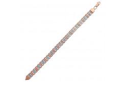 Серебряные браслеты с позолотой для женщин 132011
