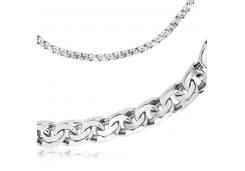 Серебряные браслеты без вставки, унисекс 124516