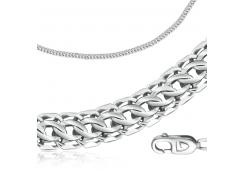 Серебряные браслеты без вставки, унисекс 90177