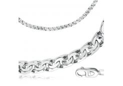 Серебряные браслеты без вставки, унисекс 90196
