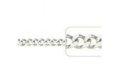 Серебряные браслеты без вставки, унисекс 126896