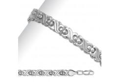 Женские серебряные браслеты без вставки 79308