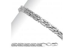 Серебряные браслеты без вставки, унисекс 90178
