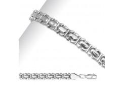 Серебряные браслеты без вставки, унисекс 90179