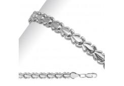 Серебряные браслеты без вставки, унисекс 90180