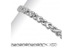 Серебряные браслеты без вставки, унисекс 90184