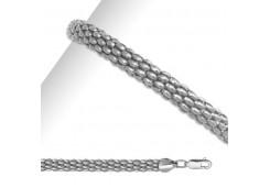Серебряные браслеты без вставки, унисекс 90187