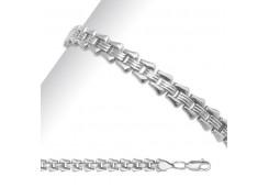 Серебряные браслеты без вставки, унисекс 90189