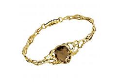 Браслеты из золота, вставка раух-топаз 101364