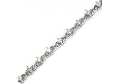Браслеты из серебра, вставка фианит белый 121108