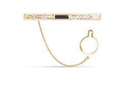 Зажим для галстука из золота с фианитом