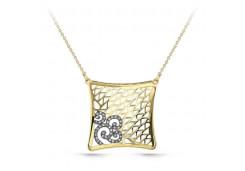 Колье из желтого золота 585 пробы с бриллиантом