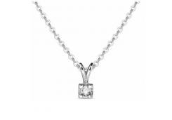 Колье из белого золота с бриллиантом