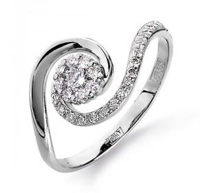 Кольцо из белого золота 585 пробы с бриллиантом