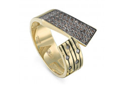 Кольцо из желтого золота 585 пробы с бриллиантом