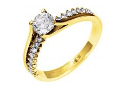 Кольцо из желтого золота с бриллиантом