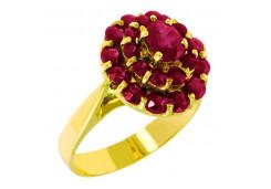 Кольцо из желтого золота 585 пробы с рубином
