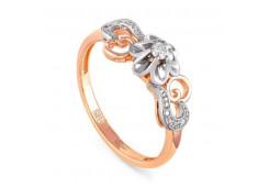 Кольцо из красного золота 585 пробы с бриллиантом
