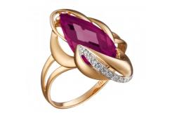 Золотые кольца с александритом 110147