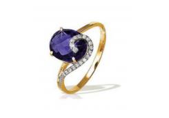 Золотые кольца с александритом 49846