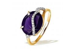 Золотые кольца с александритом 49850