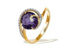 Золотые кольца с александритом 49851
