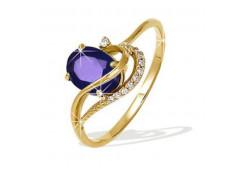 Золотые кольца с александритом 49872