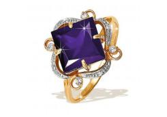 Золотые кольца с александритом 49890