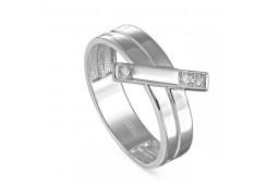 Кольцо из серебра 925 пробы с бриллиантом