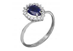 Женские кольца из серебра с сапфирами 123390