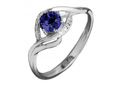 Женские кольца из серебра с сапфирами 121072