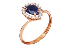 Серебряные кольца с сапфирами 103939