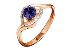 Серебряные кольца с сапфирами 121070