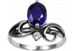 Серебряные кольца с сапфирами 108823