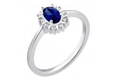 Женские кольца из серебра с сапфирами 110722