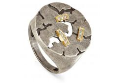 Кольцо Серебро/Золото Драгоценный камень Полновесные Классика/узор