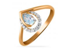 Женские золотые кольца с топазом 131715