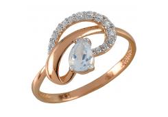 Женские золотые кольца с топазом 131717