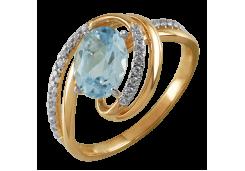Женские золотые кольца с топазом 131722